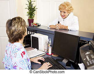 Senior Lady at the Doctor