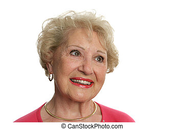 Senior Lady Optimistic