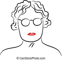 Senior Lady - senior lady wearing glasses