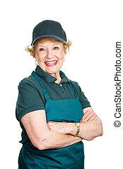 Senior Lady Worker