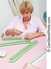 senior mahjong player
