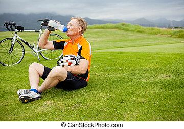 senior male cyclist