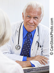 Senior Male Doctor With Elderly Female Patient