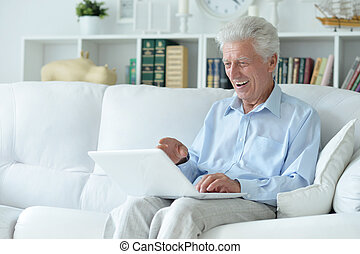 Senior man at home