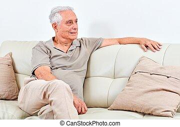 Senior man at home.