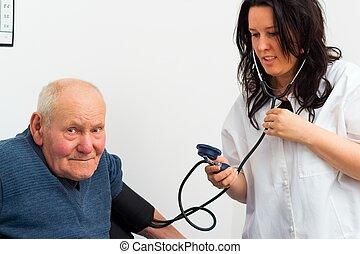 Senior Man At The Cardiology