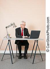 Senior man at the office