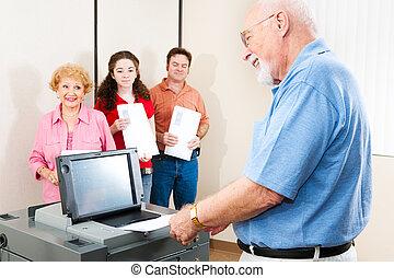 Senior Man Casting Ballot