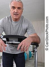 senior man doing fitness