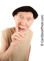 Senior man in a beret