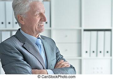 senior man in formalwear