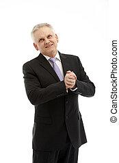 Senior man in suit