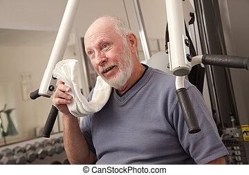 Senior Man in the Gym