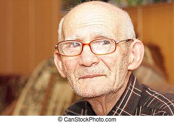 Senior man indoor portrait