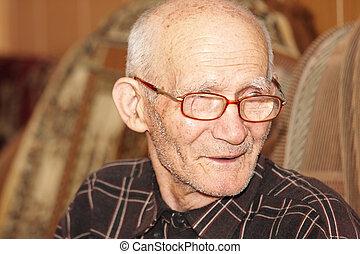 Senior man indoors