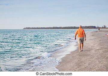 Senior Man on the Beach