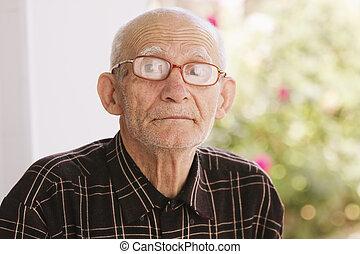 Senior man outdoor portrait