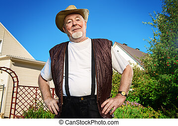 senior man outdoor