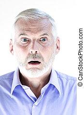 Senior man portrait stun