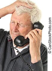 Senior man - Senior gentleman age 78 hearing bad news on a...