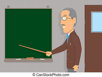 Senior man teaching / Copyspace