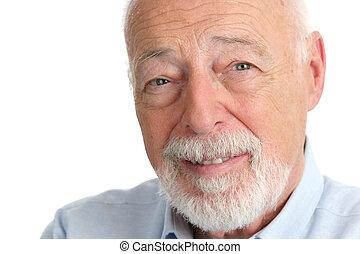 Senior Man - Trusting - A closeup of a handsome senior man...