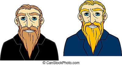 Senior man with beard