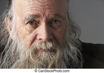 Senior Man With Long Beard