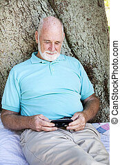 Senior Man with Smart Phone