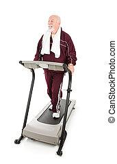 Senior Man Works Out