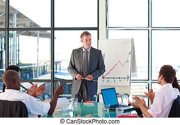 Senior manager in a presentation