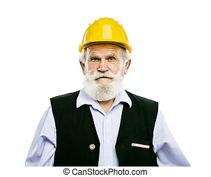 Senior manual worker isolated