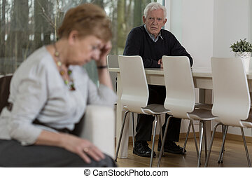 Senior marriage having problems in relationship