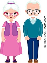 Senior married couple husband and wife in full length