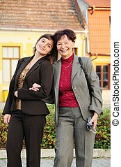 Senior mother enjoys life with her daughter