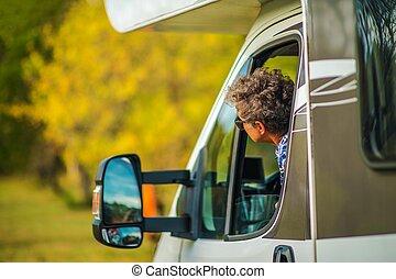 Senior Motorhome Driver