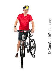 Senior mountainbiker