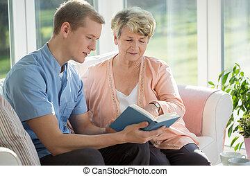 senior omsorg, afdelingssygeplejersken