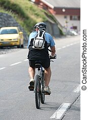 Senior on a bike