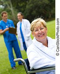 senior, pacjent, samica