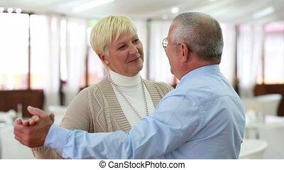 Senior pastime - Husband and wife enjoying each other%u2019s...