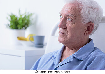 Senior patient in hospital
