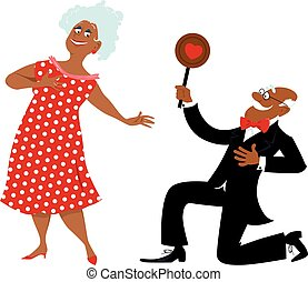 Senior people Valentine's Day