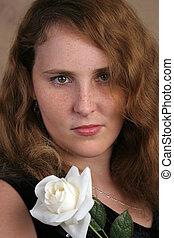Senior Portrait - A beautiful high school senior posing for...