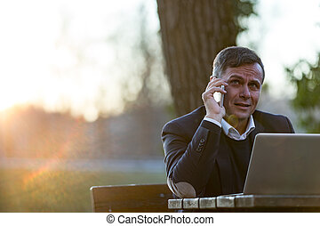 senior professional working 24h on a pleasant workplace