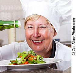 senior, professionel, køkkenchef