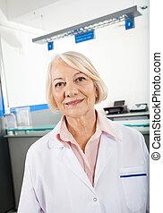 Senior Researcher Smiling In Hospital