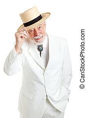 Senior Southern Gentleman Tips Hat - Handsome senior ...