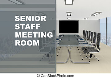 Senior Staff Meeting Room concept