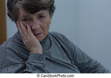 Senior suffering for depression